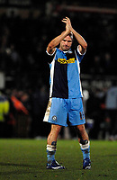 Photo: Richard Lane.<br />Wycombe Wanderers v Chelsea. Carling Cup, Semi Final 1st Leg. 10/01/2007. <br />Wycombe's Tommy Mooney applauds the fans.
