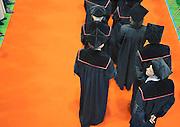 Nederland, Nijmegen, 30-8-2010Tijdens de opening van het academisch jaar betreden hoogleraren, professoren, de zaal.Rector Magnificus professor kortmann hield in zijn rede een pleidooi voor de emancipatie van de allochtonen via het hoger onderwijs.Foto: Flip Franssen