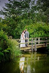 Rustic Bridge at Three Lakes Wedding Westmill Farm, Hertfordshire