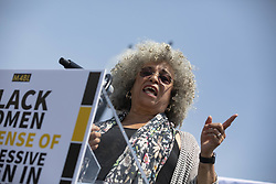 April 30, 2019 - Washington, District of Columbia, U.S. - Activist Angela Davis speaks during a press event in front of the United States Capitol in Washington, D.C. on April 30, 2019. Several members of Congress attended the event and spoke out against recent tweets by President Donald Trump that attacked Rep. Ilhan Omar. Credit: Alex Edelman / CNP (Credit Image: © Alex Edelman/CNP via ZUMA Wire)
