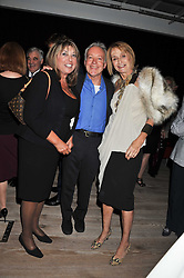 Left to right, EVE POLLARD, NICKOLAS GRACE and SANDY FORSYTH at a party to celebrate the publication of her  autobiography - The World According to Joan, held at the British Film Institute, South Bank, London SE1 on 8th September 2011.