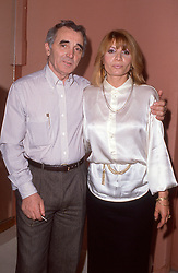 Undated file photo of Charles Aznavour and his daughter Seda. Undated file photo of Charles Aznavour in a recording studio. French singer and songwriter Charles Aznavour has died at 94 after a career lasting more than 80 years, The star died at one of his homes in the south east of France. The performer, born to Armenian immigrants, sold more than 180 million records and featured in over 60 films. Photo by Pascal Baril/ABACAPRESS.COM