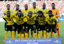 July 26, 2017 - Santa Clara, CA, USA - Santa Clara, CA - Wednesday July 26, 2017: Jamaica starting eleven during the 2017 Gold Cup Final Championship match between the men's national teams of the United States (USA) and Jamaica (JAM) at Levi's Stadium. (Credit Image: © Celso Bayo/ISIPhotos via ZUMA Wire)