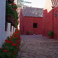 South America, Peru, Arequipa. Cordova Street of Monasterio de Santa Catalina.