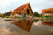 THAILAND, NORTH, GOLDEN TRIANGLE Chiang Mai, Wat Chiang Man, oldest Buddhist wat (temple) with a chedi or stupa