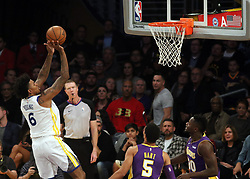 November 29, 2017 - Los Angeles, California, U.S - Nick Young #6 of the Golden State Warriors takes a shot during their game with the Los Angeles Lakers on Wednesday November 29, 2017 at the Staples Center in Los Angeles, California. Lakers lose to Warriors, 127-123. (Credit Image: © Prensa Internacional via ZUMA Wire)