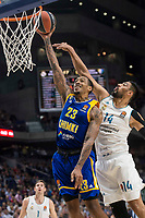 Real Madrid Gustavo Ayon and Khimki Moscow Malcolm Thomas during Turkish Airlines Euroleague match between Real Madrid and Khimki Moscow at Wizink Center in Madrid, Spain. November 02, 2017. (ALTERPHOTOS/Borja B.Hojas)