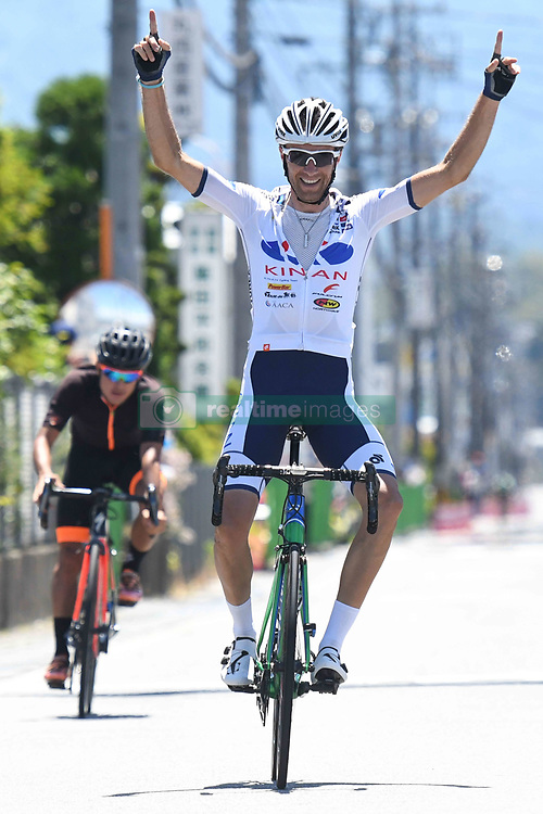 May 24, 2018 - Lida, Nagano, Japan - French rider Thomas Lebas from Kinan Cycling Team wins Minami Shinshu stage, 123.6km on Shimohisakata Circuit race, the fifth stage of Tour of Japan 2018. Jorge Camilo Castiblanco Cubides from Illuminate Team finishes second, and the main group finishes 1 minute and 19 seconds behind the winner. Thomas Lebas takes the Race Leader Green Jersey with three stages to go..On Thursday, May 24, 2018, in Lida, Nagano Prefecture, Japan. (Credit Image: © Artur Widak/NurPhoto via ZUMA Press)