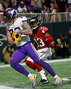 Kyle Rudolph catches game winning touchdown pass vs the Atlanta Falcons.