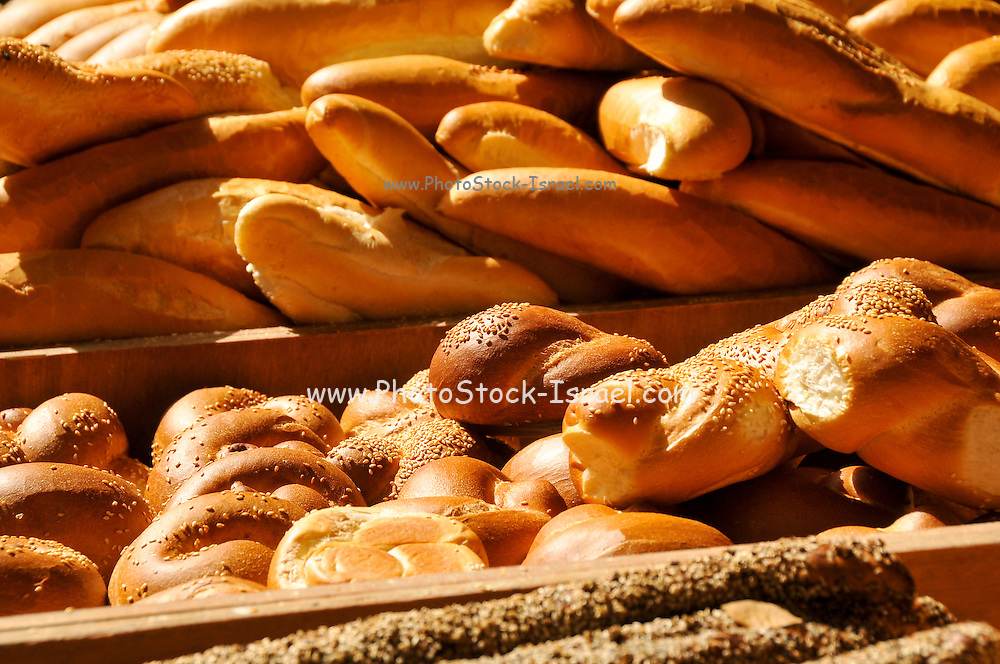 Freshly baked rolls and bread in a basket
