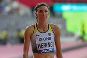 Christina Hering (Germany), 800 Metres Women - Round 1, Heat 1, during the 2019 IAAF World Athletics Championships at Khalifa International Stadium, Doha, Qatar on 27 September 2019.