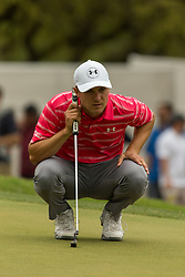 March 23, 2018 - Austin, TX, U.S. - AUSTIN, TX - MARCH 23: Jordan Spieth lines up a birdie putt during the WGC-Dell Technologies Match Play Tournament on March 22, 2018, at the Austin Country Club in Austin, TX. (Photo by David Buono/Icon Sportswire) (Credit Image: © David Buono/Icon SMI via ZUMA Press)