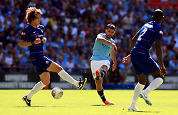 Manchester City's Sergio Aguero during the Community Shield match at Wembley Stadium, London
