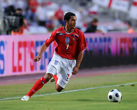 Theo Walcott<br /> England 2008/09 <br /> Andorra V England (0-2) World Cup 2010 Qualifying Match <br /> at Monjiic Olympic Stadium in Barcelona 06/09/08<br /> Photo Robin Parker Fotosports International