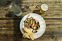 Clams prepared at The Schooner Restaurant at Netarts Bay, Oregon.