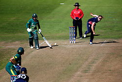 Heather Knight of England Women bowls - Mandatory by-line: Robbie Stephenson/JMP - 05/07/2017 - CRICKET - County Ground - Bristol, United Kingdom - England Women v South Africa Women - ICC Women's World Cup Group Stage