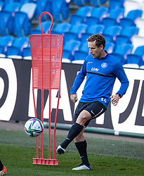 CARDIFF, WALES - Tuesday, September 7, 2021: Estonia's 37-year-old captain Konstantin Vassiljev during a training session at the Cardiff City Stadium ahead of the FIFA World Cup Qatar 2022 Qualifying Group E match between Wales and Estonia. (Pic by David Rawcliffe/Propaganda)