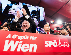 11.10.2015, SPÖ Festzelt, Wien, AUT, Wien-Wahl 2015, im Bild SPÖ Spitzenkandidat Michael Häupl // during elcetion to the vienna city council at SPÖ tent in Vienna, Austria on 2015/10/11, EXPA Pictures © 2015, PhotoCredit: EXPA/ Michael Gruber