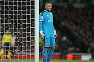Goalkeeper David Ospina of Arsenal looking on. UEFA Champions league group A match, Arsenal v Paris Saint Germain at the Emirates Stadium in London on Wednesday 23rd November 2016.<br /> pic by John Patrick Fletcher, Andrew Orchard sports photography.