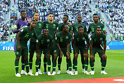 June 26, 2018 - St. Petersburg, Russia - June 26, 2018, Russia, St. Petersburg, FIFA World Cup 2018, First round, Group D, Third round. Football match of Nigeria - Argentina at the stadium of St. Petersburg. Players of the national team Nigeria (Credit Image: © Russian Look via ZUMA Wire)