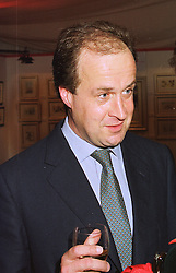 MR DAVID WATERHOUSE a friend of the late Diana, Princess of Wales, and he is a nephew of the Duke of Marlborough, at an exhibition in London on 6th November 1997.MDB 22