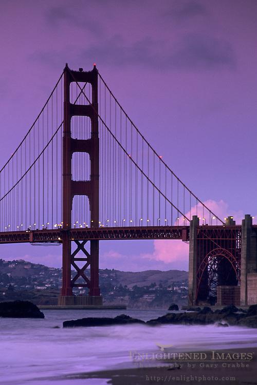 Golden Gate Bridge seen from Baker Beach, San Francisco, California
