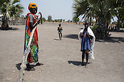 Mcc0075406 . Daily Telegraph<br /> <br /> DT Foreign<br /> <br /> Women and children walked for hours today to UN food air drop in Padeah , in a famine hit area of war torn Unity State . <br /> <br /> <br /> Padeah 1 March 2017