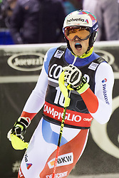22.12.2016, Canalone Miramonti Rennstrecke, Madonna di Campiglio, ITA, FIS Ski Weltcup, Madonna di Campiglio, Slalom, Herren, 2. Lauf, im Bild Daniel Yule (SUI) // Daniel Yule of Switzerland reacts after his 2st run of men's Slalom of FIS ski alpine world cup at the Canalone Miramonti race course in Madonna di Campiglio, Italy on 2016/12/22. EXPA Pictures © 2016, PhotoCredit: EXPA/ Johann Groder