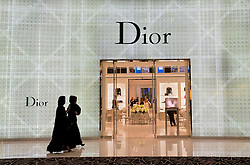 Dior store in Dubai Mall in Dubai in United Arab Emirates