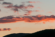 Sunset over the Three Brethren, Southern Uplands