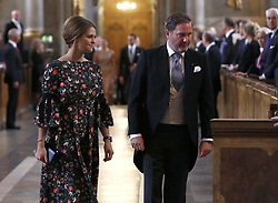 September 4, 2017 - Stockholm, Sweden - Princess Madeleine, Christopher O'Neill..Te Deum Thanksgiving service in the Royal Chapel at the Royal Palace, Stockholm, in connection with the birth of prince Carl Philip's and princess Sofia's son, prince Gabriel, 2017-09-04..© Patrik C Österberg / IBL ....Te Deum med anledning av Prinsessan Sofias nedkomst, Slottskyrkan, Stockholm, 2017-09-04 (Credit Image: © Patrik ÖSterberg/IBL via ZUMA Press)