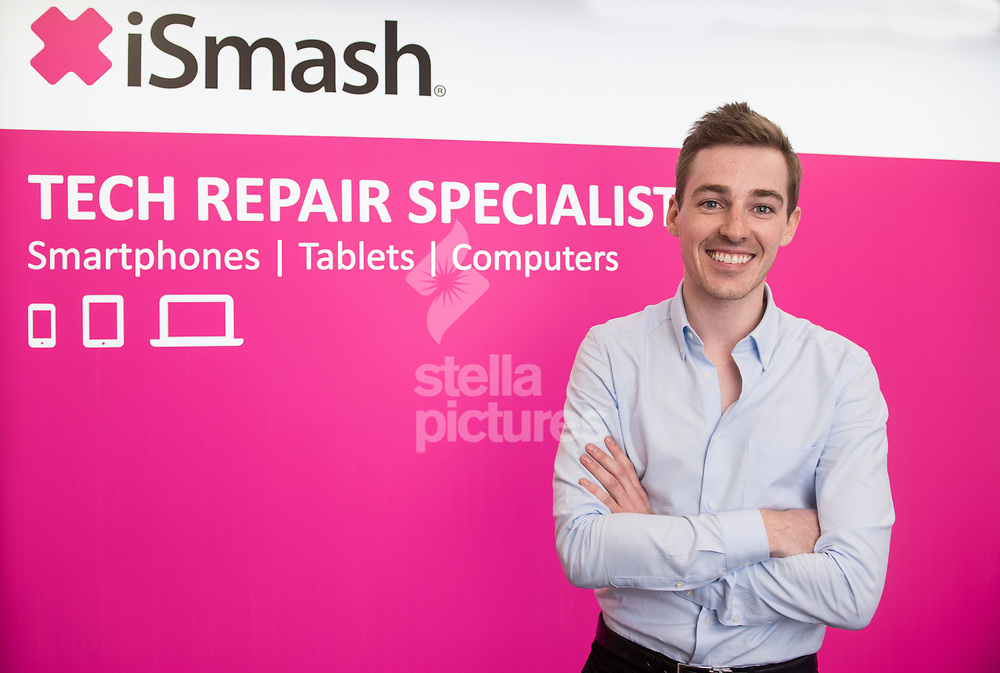 Julian Shovlin, founder and MD of digital device repair centres, iSmash, pictured at their King's Road store. <br /> Picture by Daniel Hambury/Stella Pictures Ltd 07813022858<br /> 30/06/2017