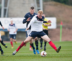 Dundee's Iain Davidson and Falkirk's Mark Beck.<br /> Dundee 0 v 1 Falkirk, Scottish Championship game played today at Dundee's Dens Park.<br /> © Michael Schofield.