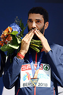 Mahiedine Mekhissi Benabbad wins his fifth gold medal at the European Championships in men 3000m steeple during the European Championships 2018, at Olympic Stadium in Berlin, Germany, Day 4, on August 10, 2018 - Photo Philippe Millereau / KMSP / ProSportsImages / DPPI