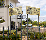 Signs for Coroner's Court and offices, Whitehouse industrial estate, Ipswich, England