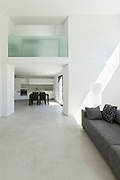architecture, interior modern house, kitchen view from the living