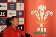 Wales coach Robert Howley talks to the media.Wales rugby team press conference and training at the Vale, Hensol near Cardiff, South Wales on Thursday 7th Nov 2013. pic by Andrew Orchard, Andrew Orchard sports photography,