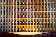 Stylish wine display in Bar at Hotel Marques de Riscal designed by architect Frank Gehry, at Elciego in Rioja-Alavesa, Spain