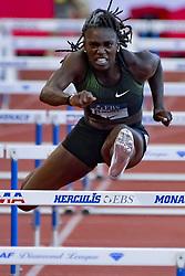 July 20, 2018 - Monaco, France - 100 metres haies feminin -  Dawn Harper Nelson  (Credit Image: © Panoramic via ZUMA Press)