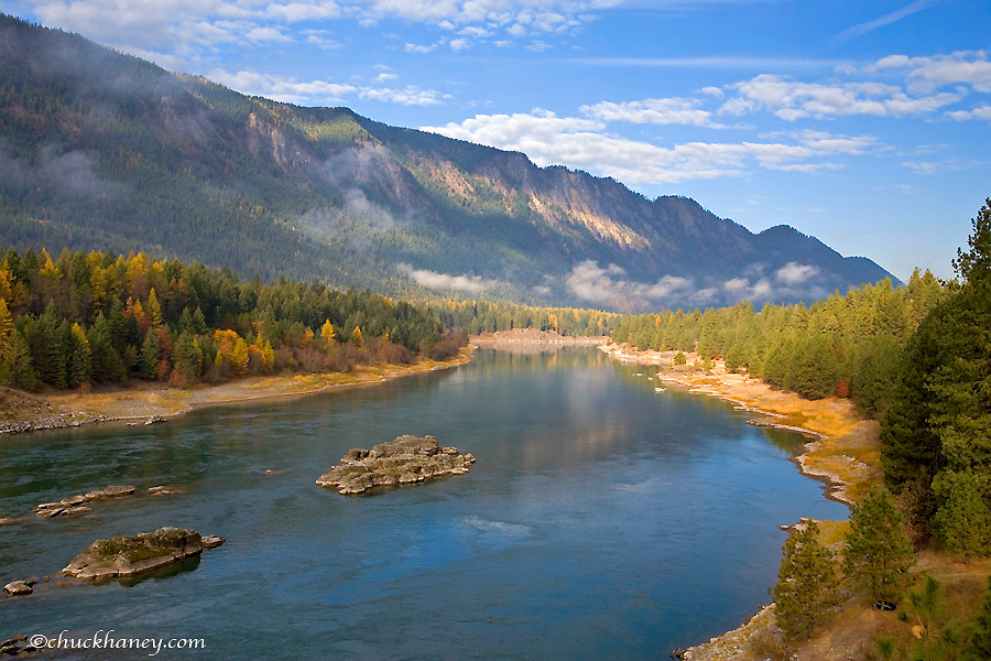 The Clark Fork River near Thompson Falls Montana