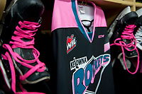 KELOWNA, CANADA - OCTOBER 21:  Pink the Rink fundraiser night for the Canadian Cancer foundation on October 21, 2017 at Prospera Place in Kelowna, British Columbia, Canada.  (Photo by Marissa Baecker/Shoot the Breeze)  *** Local Caption ***