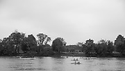 """Mortlake/Chiswick. Greater London. London. 2017 Bourne Regatta At Chiswick Bridge. Course, Runs from and to Mortlake Anglian and Alpha Boathouse, dependent on the Tide Direction. Chiswick.  River Thames. <br /> <br /> General view, at the start of an """"Double Sculls"""" Race at Chiswick Bridge <br /> <br /> Saturday  06/05/2017<br /> <br /> [Mandatory Credit Peter SPURRIER/Intersport Images]"""