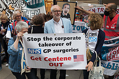 2021-07-05 Get Centene Out of the NHS protest