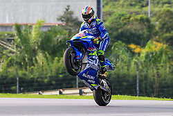 February 6, 2019 - Sepang, SGR, U.S. - SEPANG, SGR - FEBRUARY 06:  Alex Rins of Team Suzuki Ecstar in action during the first day of the MotoGP official testing session held at Sepang International Circuit in Sepang, Malaysia. (Photo by Hazrin Yeob Men Shah/Icon Sportswire) (Credit Image: © Hazrin Yeob Men Shah/Icon SMI via ZUMA Press)