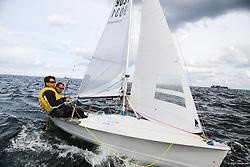 , Kiel - SAP 505er World Championship 2014, 505er, FRA 9031, Philippe LUCIENNE, Vivien LUCIENNE,