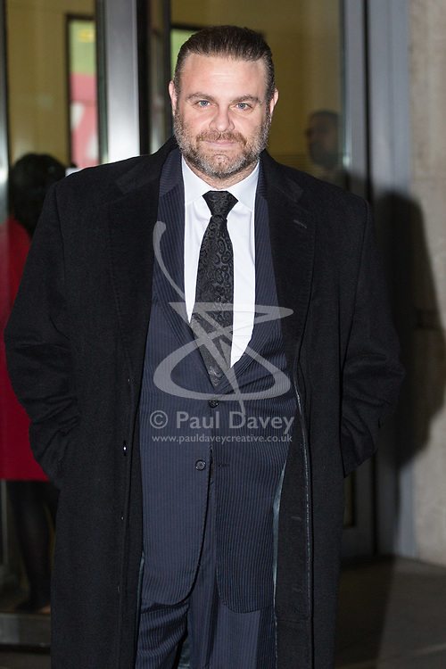 London, January 28 2018. Maltese Opera tenor Joseph Calleja attends the Andrew Marr Show at the BBC's New Broadcasting House in London.. © Paul Davey