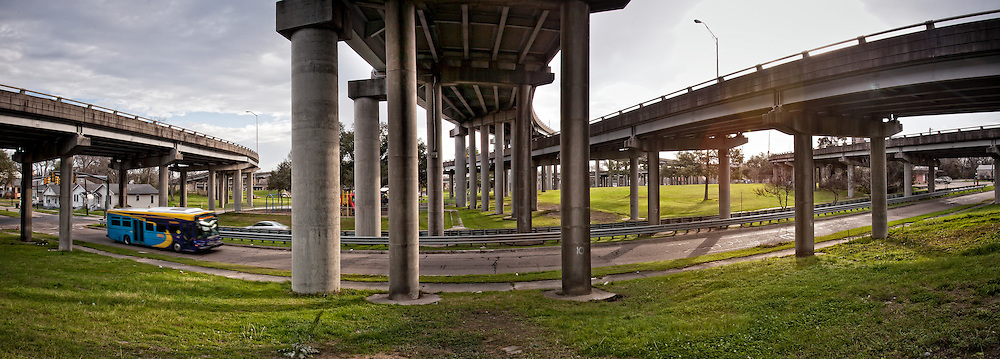 Under Interstate 10 near the intersection of Interstate 110 in Baton Rouge, La.