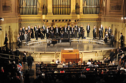On Stage at Woolsey Hall, the Yale Glee Club performing Parents Weekend Concert at Woolsey Hall, Yale University New Haven CT, on 25 October 2008