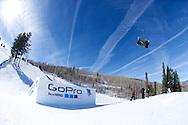 Tom Wallisch during Ski Slopestyle Practice at 2014 X Games Aspen at Buttermilk Mountain in Aspen, CO. ©Brett Wilhelm/ESPN