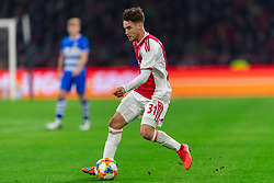 13-03-2019 NED: Ajax - PEC Zwolle, Amsterdam<br /> Ajax has booked an oppressive victory over PEC Zwolle without entertaining the public 2-1 / Nicolas Tagliafico #31 of Ajax
